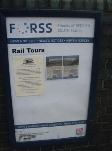 Friends of Reddish South Station poster