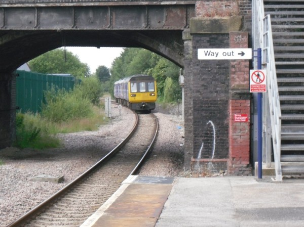Photo of train approaching Reddish South station