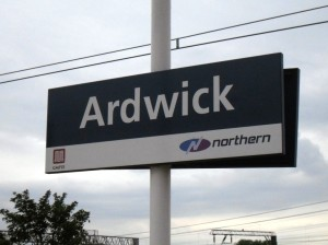 Photo of Ardwick station nameboard