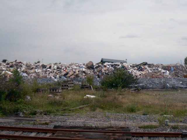 Photo of waste tip outside Ardwick station