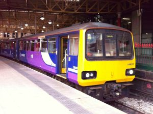 Photo of Class 144 DMU at Manchester Victoria