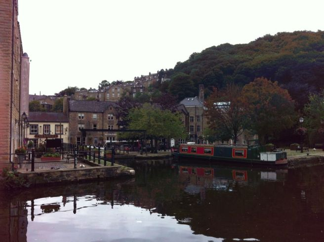 Photo of Canal and Buildings in Hebden Bridge
