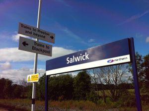 Photo of Salwick station sign