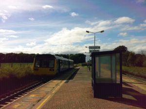 Train departs Salwick station