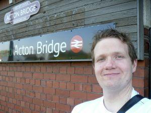 Photo of Robert at Acton Bridge