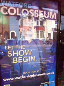 Poster advertising John Barrowman at the Watford Colosseum