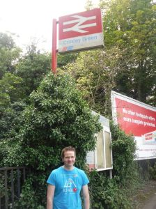 Photo of Robert standing in front of Croxley Green station