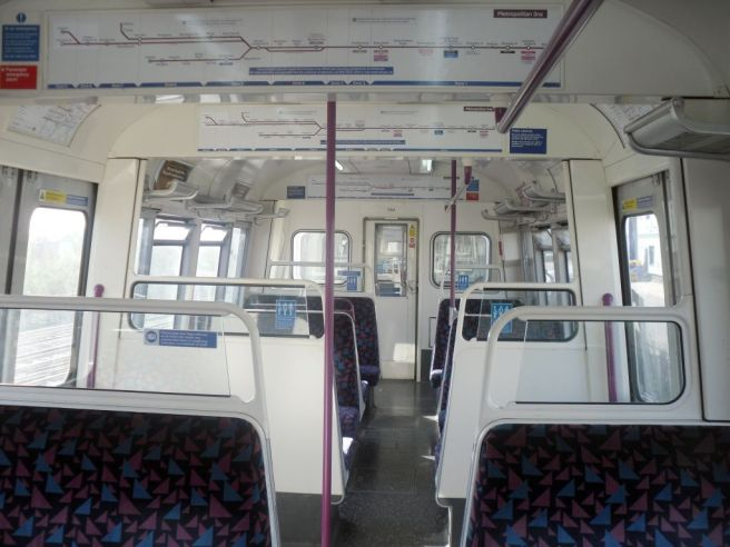 Photo of Interior of Metropolitan Line A Stock