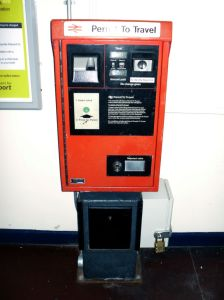 Photo of Permit to Travel machine at Acton Bridge station