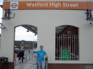 Robert outside Watford High Street Overground station