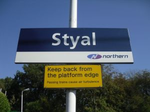 Photo of Styal station platform sign