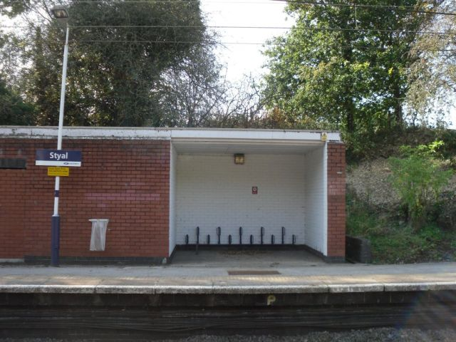 Photo of bicycle parking at Styal station
