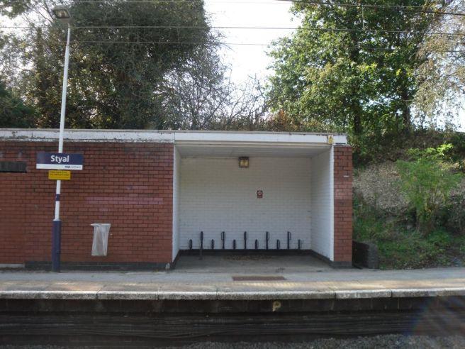 Photo of bicycle parking at Styal station