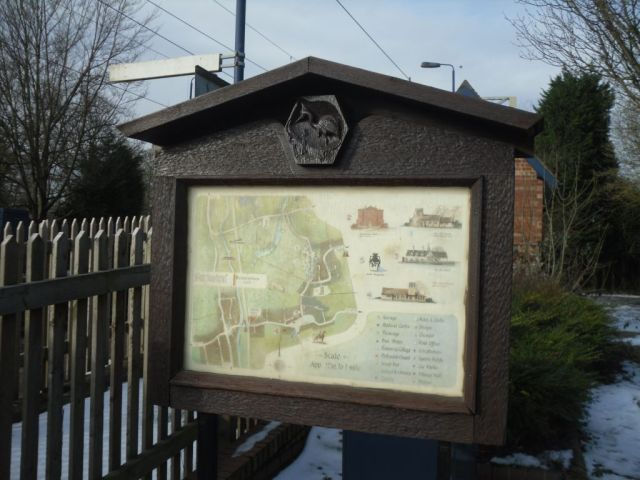 Photo of noticeboard next to Barlaston station