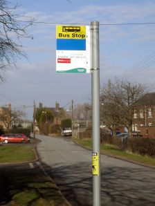 Photo of bus stop sign for Norton Bridge station