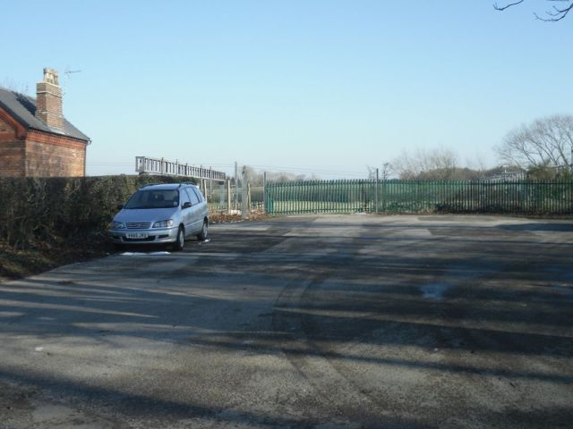 Photo of former entrance to Norton Bridge station