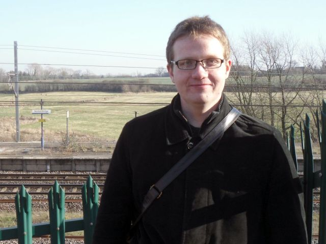 Photo of Robert with Norton Bridge station in the background