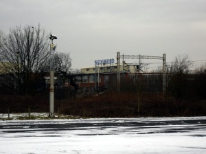 Photo of Wedgwood Factory as seen from the road near Wedgwood station