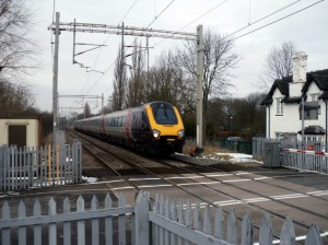 Photo of Cross Country Voyager at speed, approaching Wedgwood