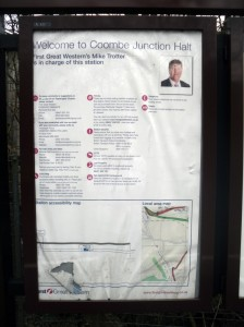 Photo of Welcome poster at Coombe Junction Halt