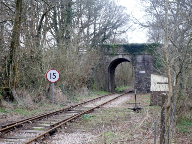 Photo of the line to Moorswater
