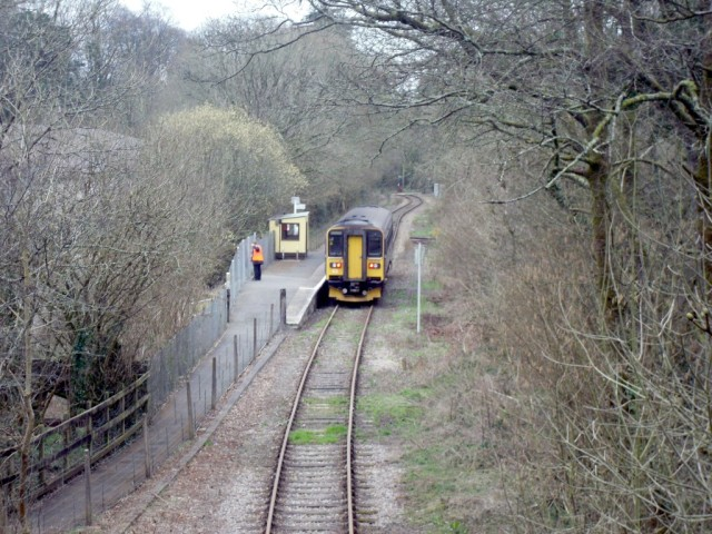 Photo of train in Coombe Junction Halt