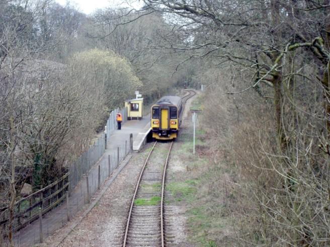 Photo of train in Coombe Junction Halt