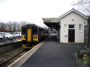 Photo of class 153 at Liskeard