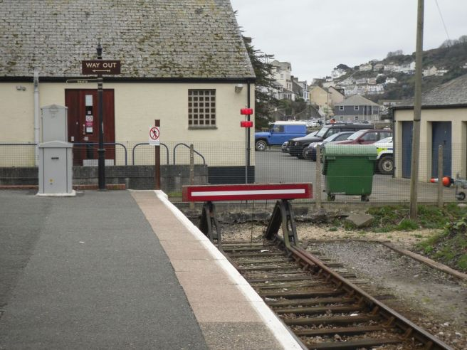 Photo of Buffer Stops at Looe Station