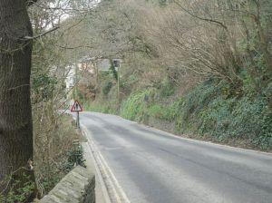 Photo of narrow road leading to Looe