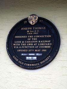 Plaque Commemorating Joseph Thomas, engineer