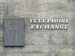 Photo of Looe Telephone Exchange sign