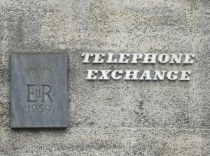 Photo of Looe Telephone Exchange sign