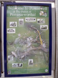 Perranwell information board