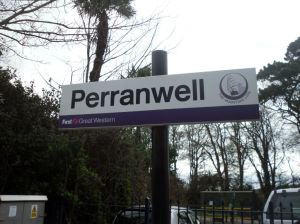 Perranwell station nameboard