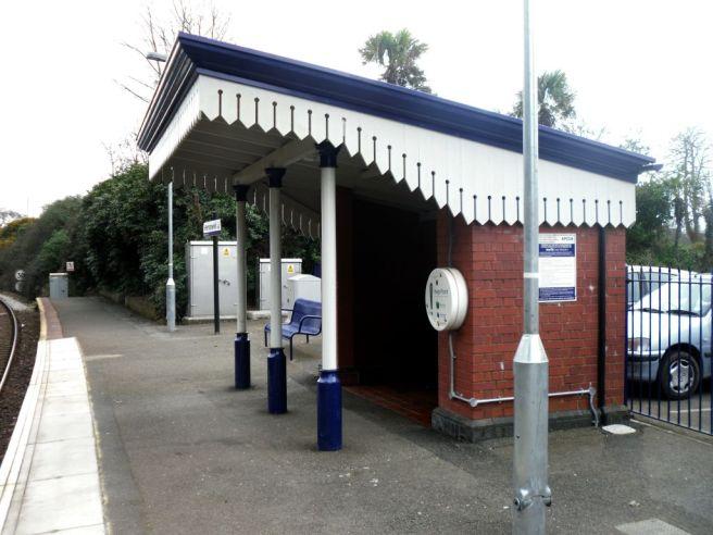 Perranwell station shelter