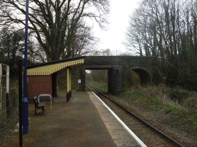Photo of St Keyne Wishing Well Halt station, looking towards Liskeard