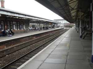Truro station platform
