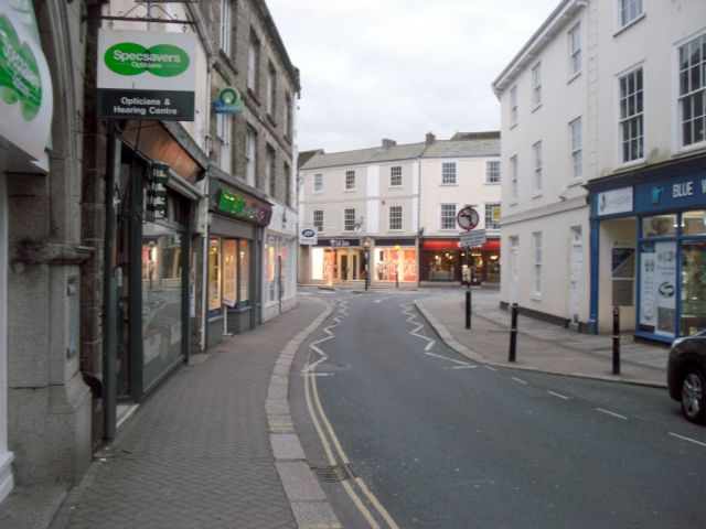 Truro street in the evening
