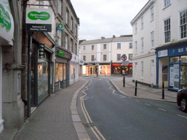 Truro street in the evening