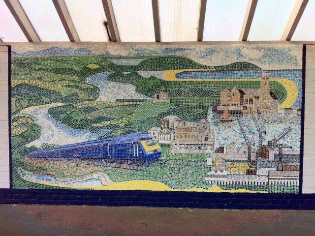 Falmouth Docks mural