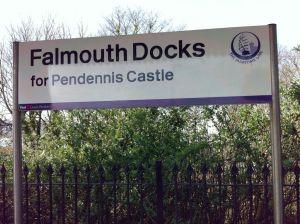 Falmouth Docks station for Pendennis Castle