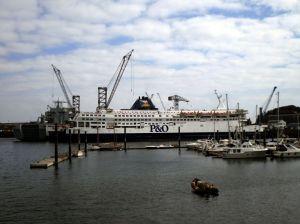 P&O Vessel in Falmouth Docks