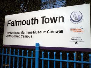 Photo of Falmouth Town station nameboard