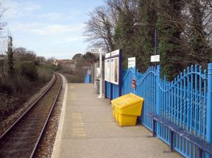 Photo of Falmouth Town station platform