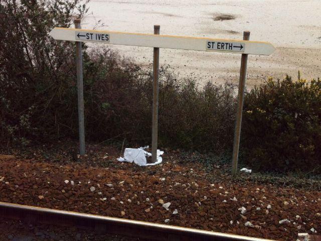 Lelant Saltings direction sign