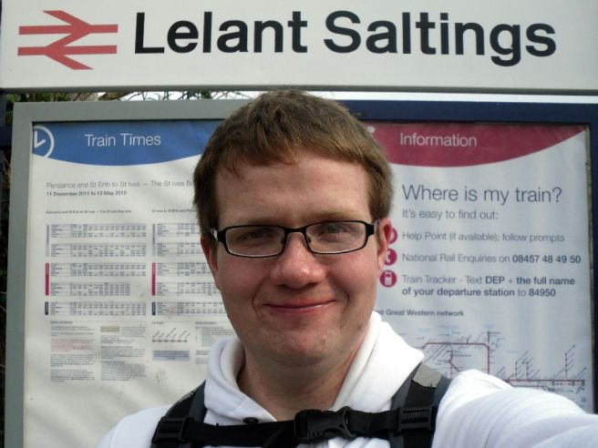 Hampo under the Lelant Saltings sign