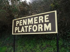 "Sign reading ""Penmere Platform"""