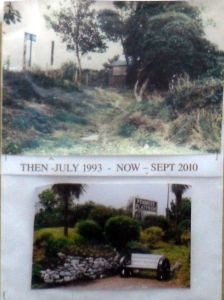 Photo comparing Penmere station in 1993 with 2010