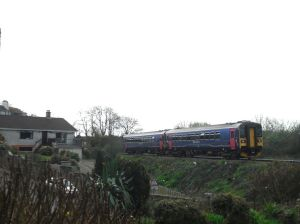 Photo of train leaving Penmere
